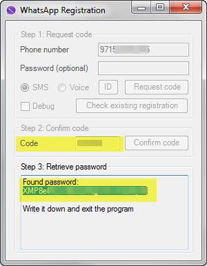 WhatsApp registration on PC