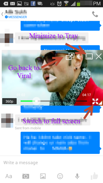 Viral YouTueb app popup controls