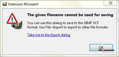 export dialogue in GIMP