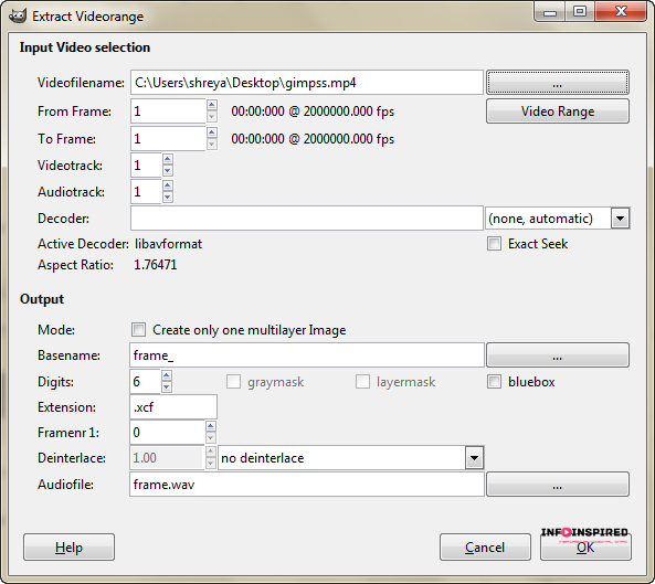 How to create animated gifs from your videos with free software gimp video menu negle Images