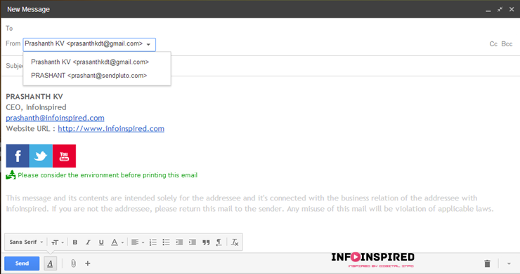 pluto mail within Gmail