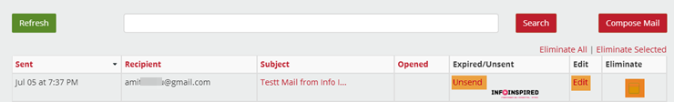 unsend mail in Gmail