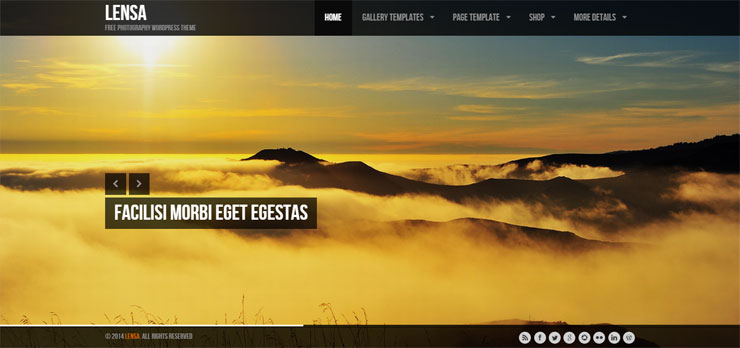 lensa free best wp photography theme