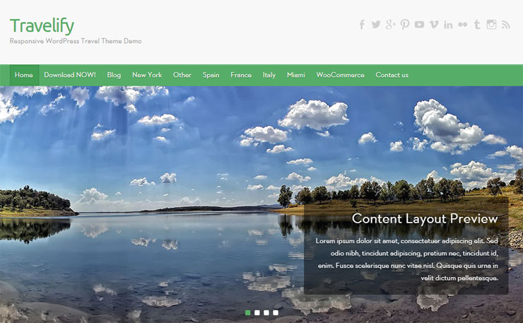 travelify free best wp photography theme