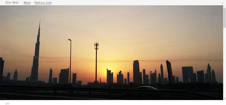 My Ello cover page featuring Dubai Skyline