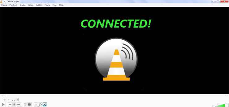 VLC remote connection
