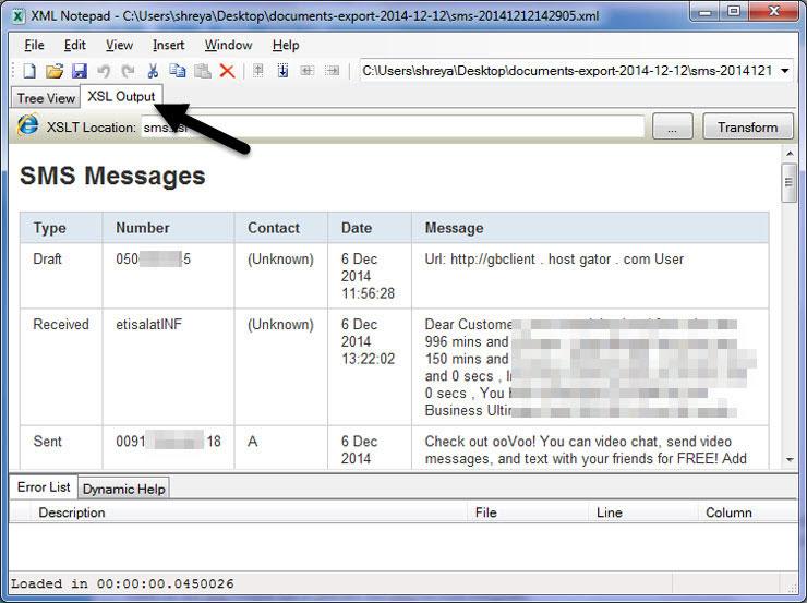 XML Note Pad