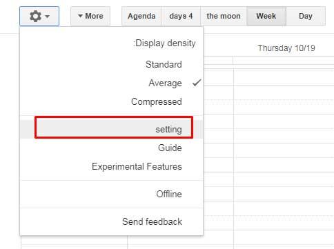 Google Calendar Language Settings