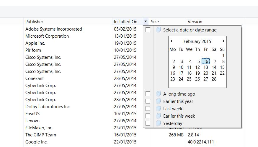 windows 8.1 add or remove programs