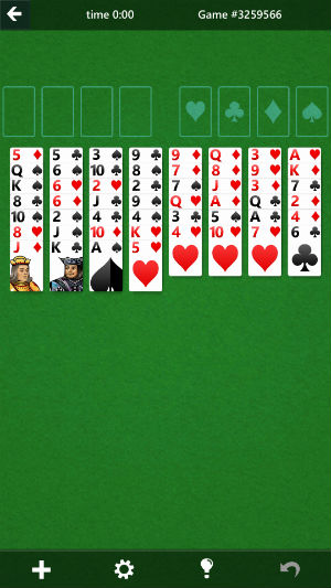 solitaire-game from microsoft