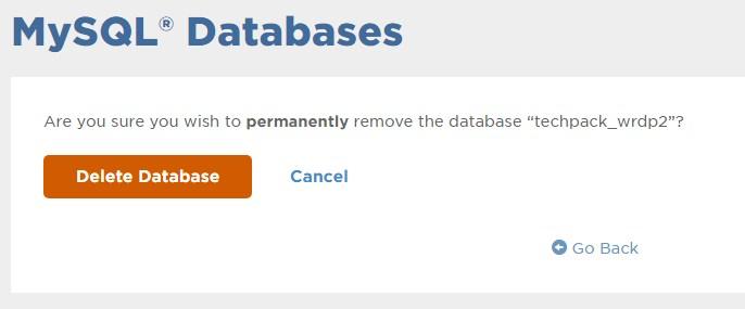 Delete MySql Data