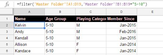 filter result 1 using filter command
