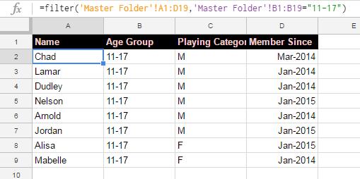 filter result 2 filter using filter command