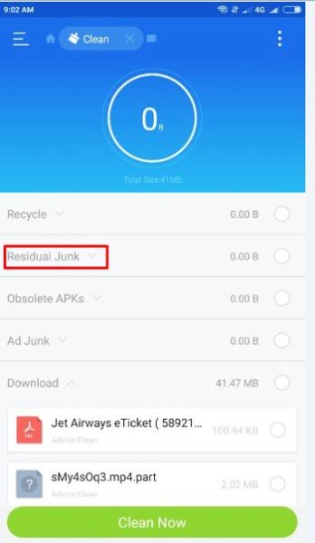 remove left over data android - residual junk