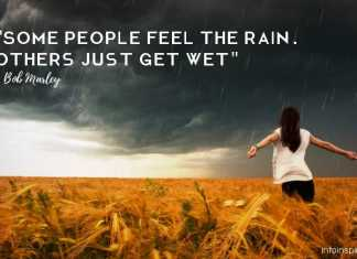 emotional rain quote info inspired