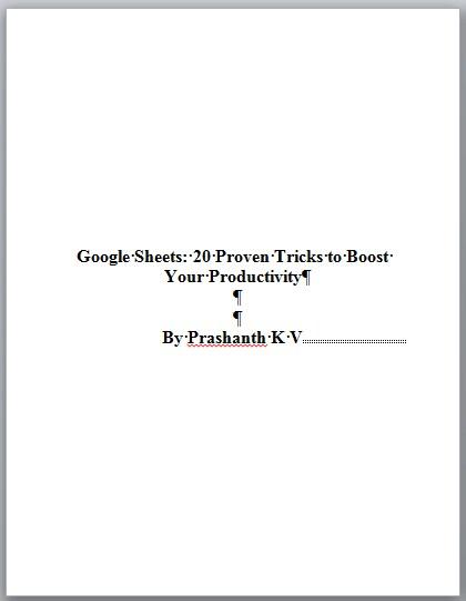 Create Kindle eBook title page