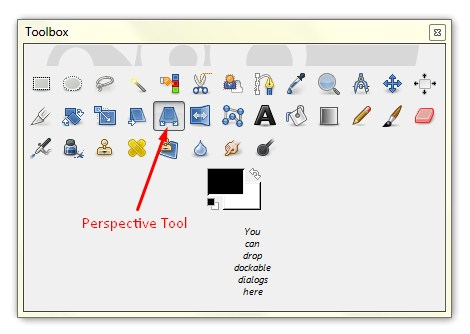 perspective tool in GIMP