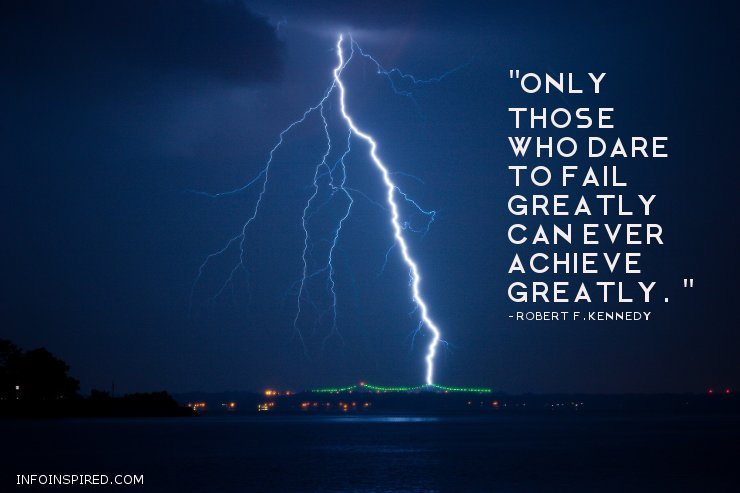 Only those who dare to fail greatly can ever achieve greatly - Success Inspirational Quotes