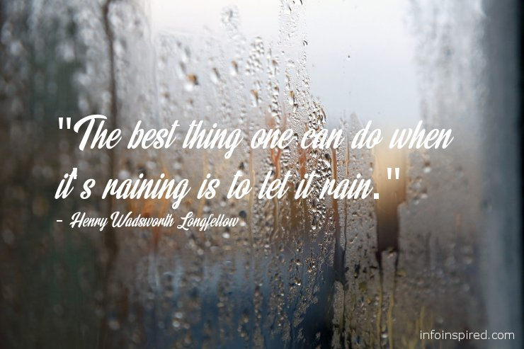 rain inspired emotional quote with image
