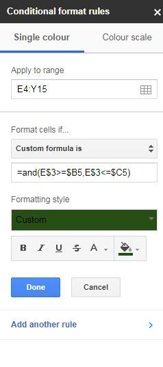 Create Gantt Chart Using Formulas And Formatting In A Spreadsheet