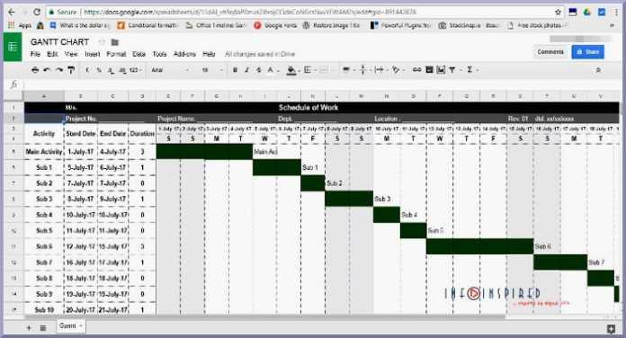 gantt chart google doc