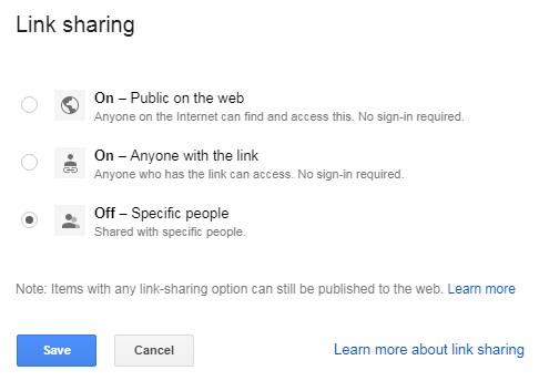 make file private in google sheets