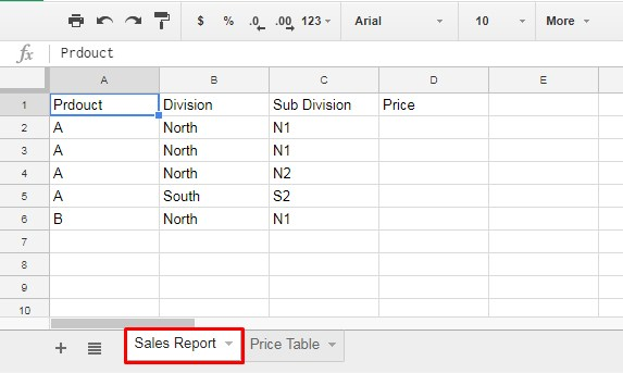 Sheet 1 - Sample Data to Auto Fill Cell with Matching Multiple Conditions in Google Sheet
