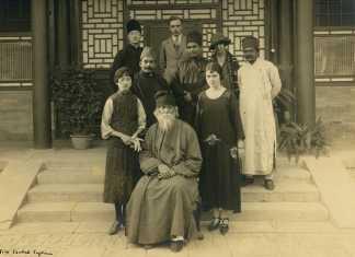 Rabindranath Tagore in 1924, at Forbidden City in China