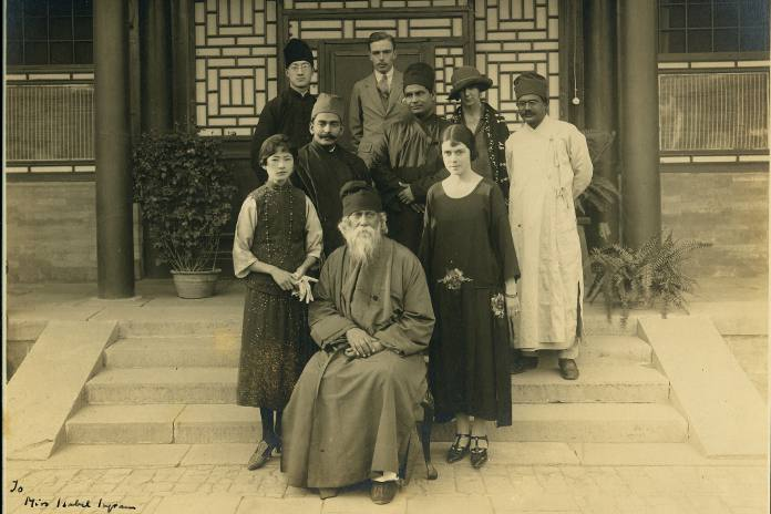 Rabindranath Tagore in 1924, at Forbidden City in China