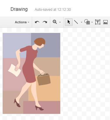 copy paste images in Google Sheet Drawing Window from Excel