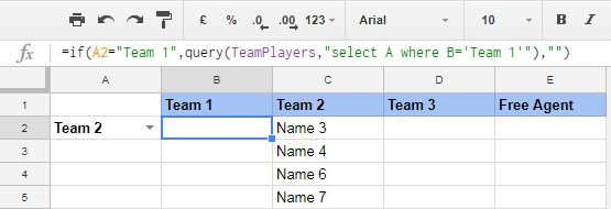 finished auto populated sheet in Google Sheets