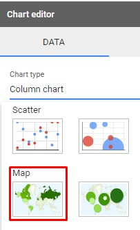 Google Sheet Map Chart Editor for Map