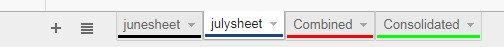 sheet tabs used to consolidate data in google sheets using g-query