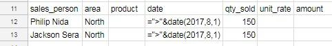 dcount criteria example