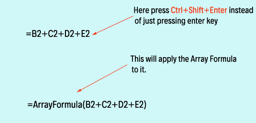 apply ctrl+shift+enter to change an existing formula to an array formula