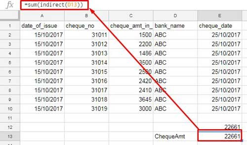 Google Sheets Indirect Formula with Named Ranges