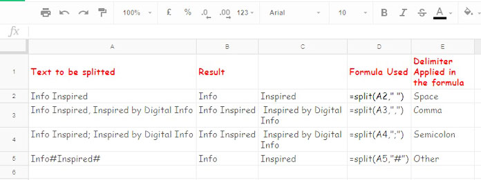 How to Split Text to Columns in Google Sheets