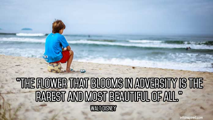The flower that blooms in adversity is the rarest and most beautiful of all