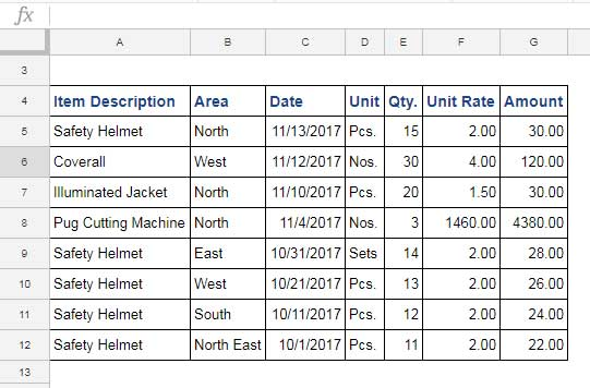 Sample Date for Vlookup with Multiple Criteria