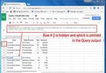 Google Sheets Query Hidden Row Handling