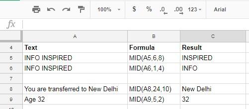 usage of MID formula