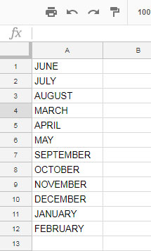 Sort Month in Text in Proper Month Order
