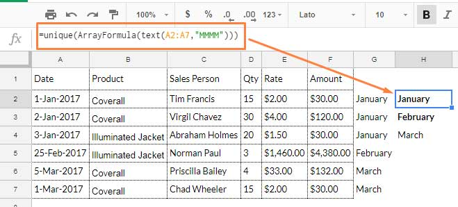 create criteria from dates for summary