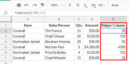 only extract visible rows using query - create virtual helper column