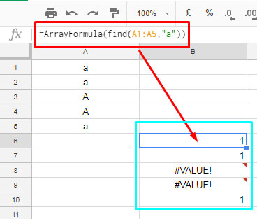 Replace the range in Countif with FIND formula