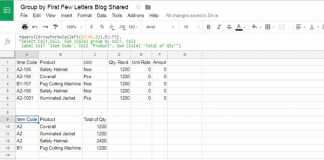 How to Group a Column Based on First Few Characters in Google Sheets