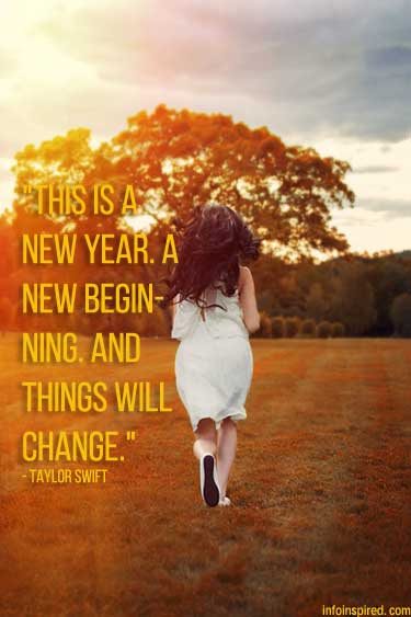 This is a new year. A new beginning. And things will change