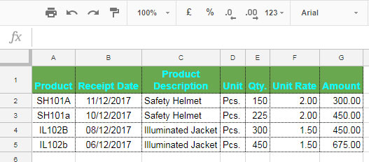 Steps: Case Sensitive SUMIF in Google Sheets