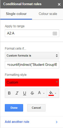 how to set cell colour in formula in.google sheets