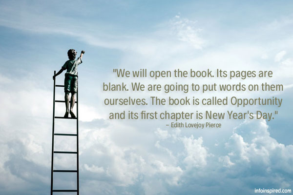 The book is called Opportunity and its first chapter is New Year's Day